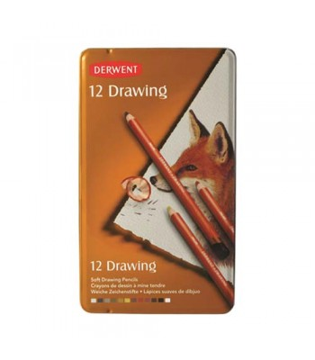 Derwent Tin Drawing Color Pencil 12