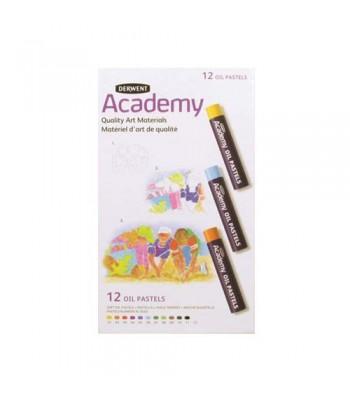 Derwent Academy Oil Pastel 12 0il Pastels