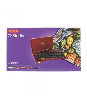 Derwent Wooden Box Studio Pencils 72