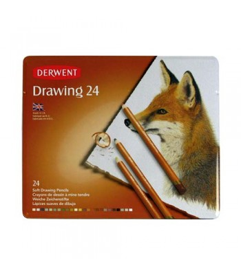 Derwent Tin Drawing Color Pencil 24