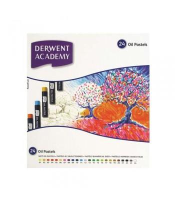 Derwent Academy Oil Pastel 24 0il Pastels