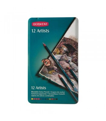 Derwent Tin Artists Pencils 12