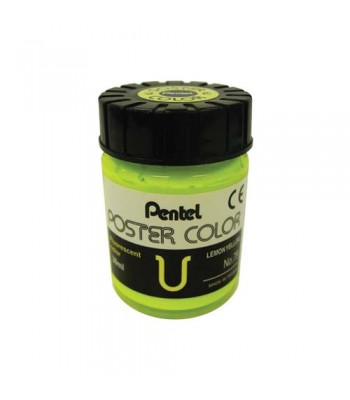 Pentel Poster Color Fluorescent Lemon Yellow 30ml