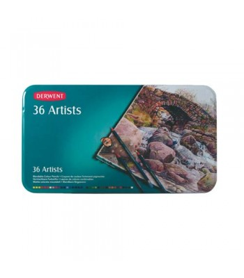 Derwent Tin Artists Pencils 36