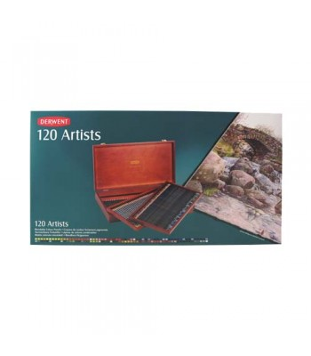 Derwent Wooden Box Artists Pencils 120