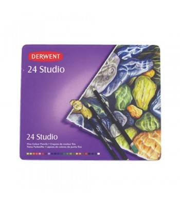 Derwent Tin Studio Pencils 24