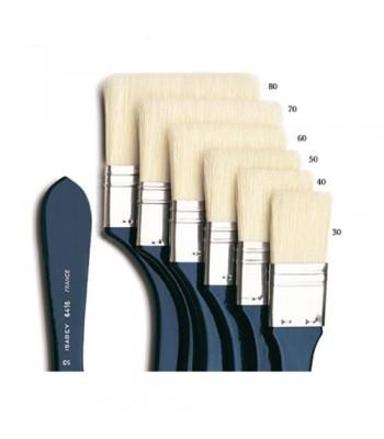 Isabey Large Flat Short Handle 6416 Oil Painting Brush