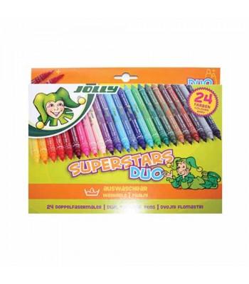 Jolly Superstars Duos 24 Color Pencil