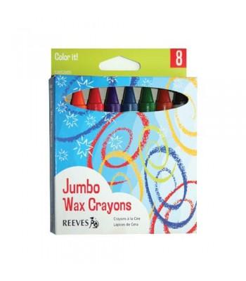 Reeves Jumbo Crayon 8 Colour