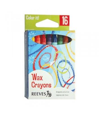 Reeves Wax Crayon 16 Colour