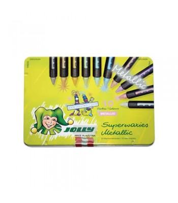Jolly Metalic 10 Colours Crayon