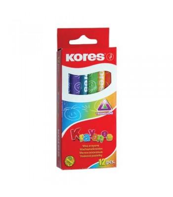 Kores 12 Colours Crayon