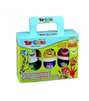 Toy Color Box Finger Paint 80ml 6 x 1