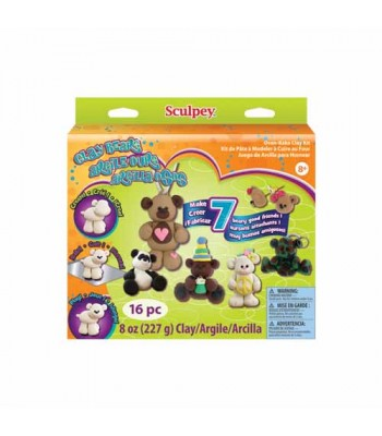 Sculpey Clay Kit - Clay Bears Sculpey 227g 16pcs