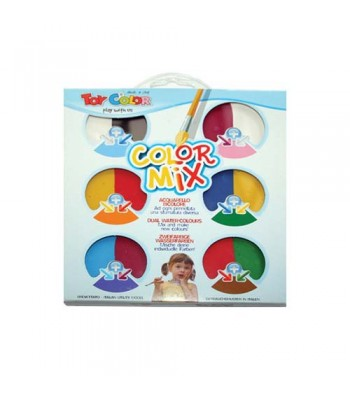 Toy Color Water Color Block 12 Col Set