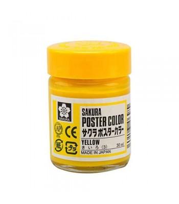 Sakura Poster Color 30ml Yellow