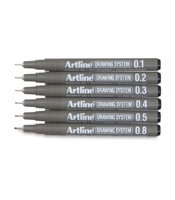 Artline drawing pens 0.1/0.2/0.3/0.4/0.5/0.6/0.7/0.8