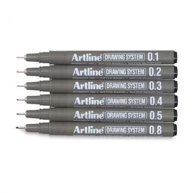 Artline drawing pens 0.1/0.2/0.3/0.4/0.5/0.6/0.7/0.8