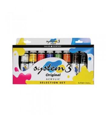 Daler Rowney System 3 Acrylic Color Set DAL 129 100 015