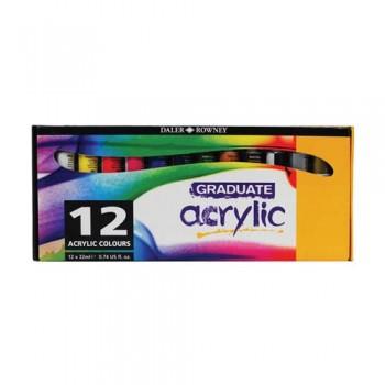 Daler Rowney Gradute Acrylic Color Set DAL 123 900 012