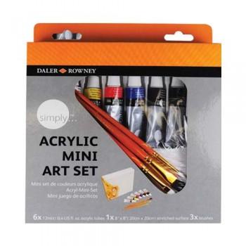Daler Rowney Simply Acrylic Color Set DAL126 500 201