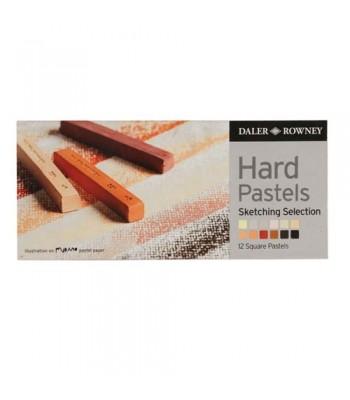 Daler Rowney Artists Hard Pastels 12 Colors 2012