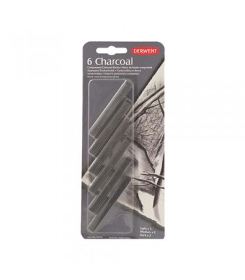 Derwent Compressed Charcoal 1x6 Blister