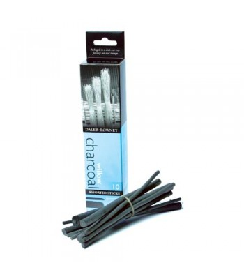 Daler Rowney Charcoal 1x10 Assorted Sticks