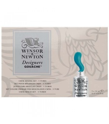 Winsor & Newton Designer Gouache CMYK Mixing set 5 x 14ml