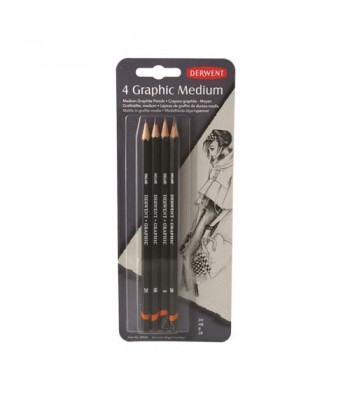 Derwent Graphic Pencil Medium Blister Of 4