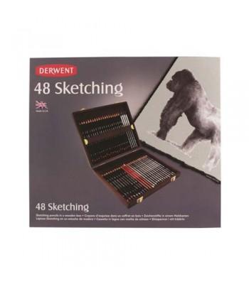 Derwent Sketching 48 Wooden Box