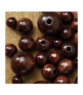Specialist Natural Wooden Beads Dark Craft