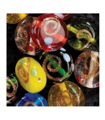 Specialist Crafts Gold Coin Glass Beads