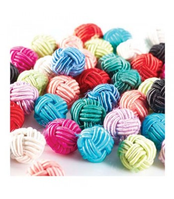Specialist Crafts Knotted Beads 16mm Assorted