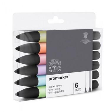 Promarker Set 1x6 Pastel Tones