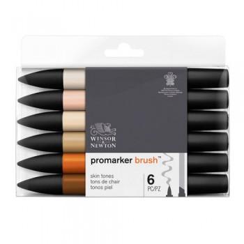 Brush Marker Set 1x6 Skin Tones