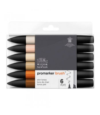 Brush Marker Set 1x6 Skin Tones