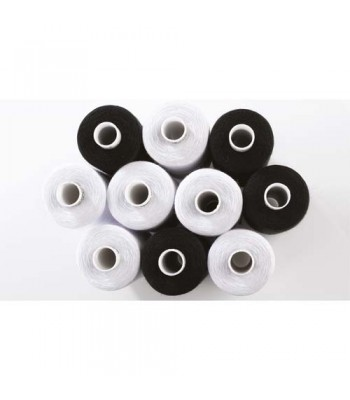 Specialist Crafts SureStitch Polyester Thread Essentials Black & White